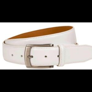 Nike Men's White G-Flex Feather Edge Golf Belt 🌿